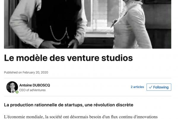Le Modèle des Venture Studio